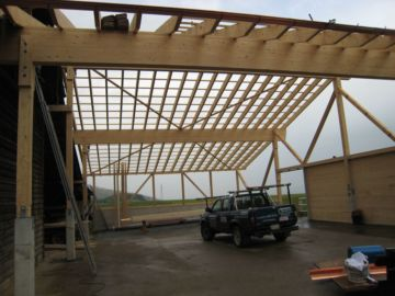 Construction d'un hangar